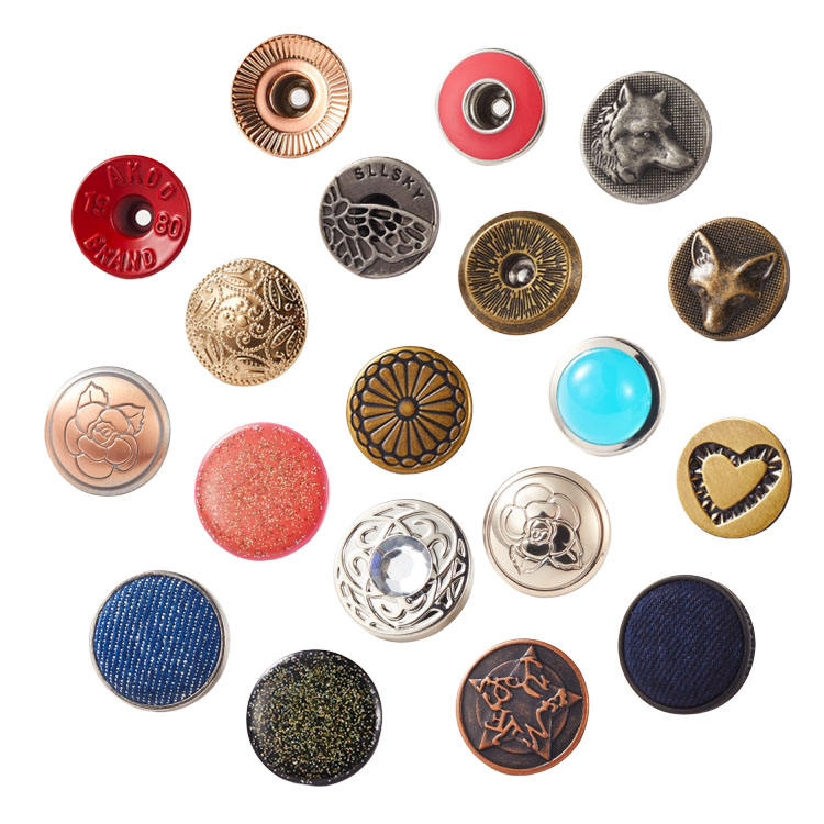 Free Sample Factory Custom Logo Brass Metal Gold Silver Denim Shank Jeans Buttons and Rivets for Jeans clothes