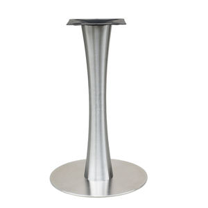 2020 Modern stainless steel round dining table base with hairline for restaurant