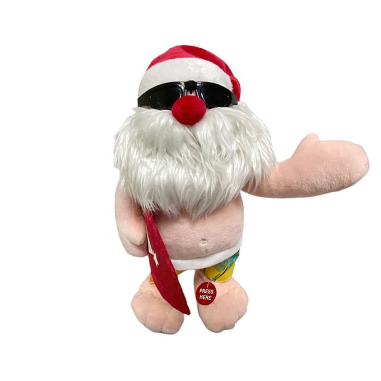 Santa Claus Funny Dance Inflatable Santa Model For Christmas