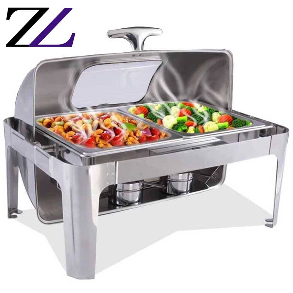 Catering cooking supplies warmer pot kitchen restaurant dining chafing-dishes chafering dish buffet sale round 1 chafer dish