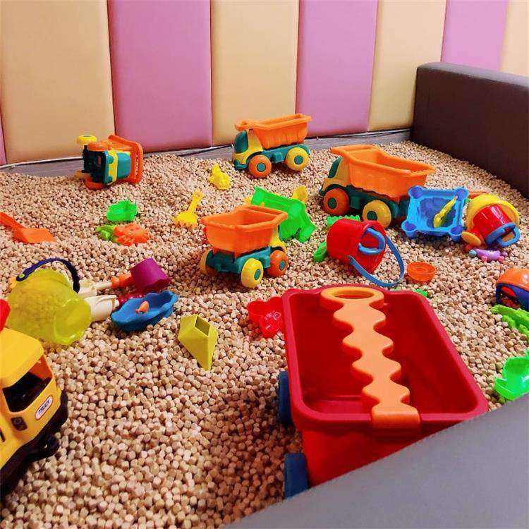 hinoki toy balls kids playground use sand pit use pillow use