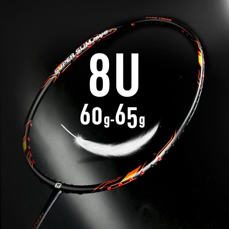 New Arrival WHIZZ racquet top brand 8U ultra light weight 40T high modulus graphite quality professional badminton racket