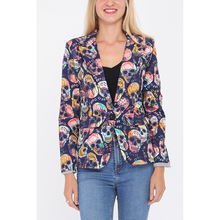 OEM French Manufacturers Ladies Skulls Printed Women Blazer Suit