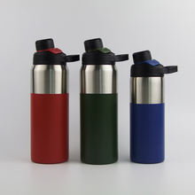 Wide Mouth Double Wall Vacuum Insulated Stainless Steel Hydro Sports Hot & Cold Flask Leak Proof Sweat Free Thermos Water Bottle