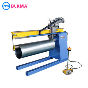 Galvanized Sheet Metal HVAC Round Air Duct Lock Seam Closing Machine