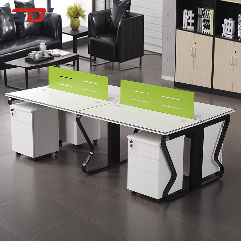 Office furniture partition steel frame desk Durable metal modular desk staff table