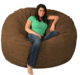 Huge memory foam bean bag chair giant bean bag sofa with foam filling for kids and adults