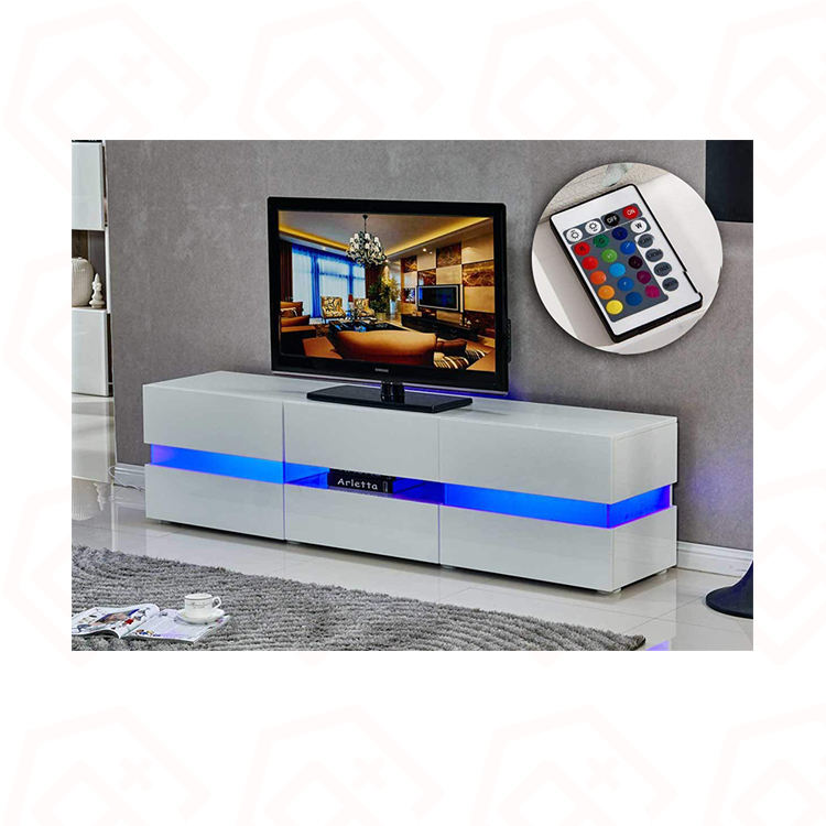 Morden Hot sales factory directly Upright Floor Wood Furniture Living room TV stand With Led Light