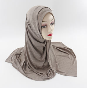 Factory Supplier High Quality 70*170cm Soft Elastic Plain Cotton Jersey Muslim Hijab Shawl Women Cotton Scarf