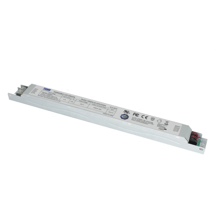 Dali 2.0 Thin type Slim Linear Power Supply 60W 12V 24V led dimmable driver