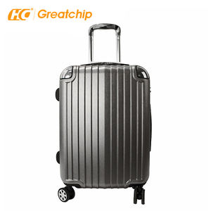 100% pur pc valise polycarbonate rougi surface chariot dur PC bagage