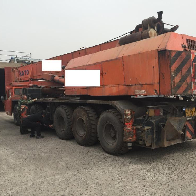 Used Truck Crane In Good Working Condition, Cheap 80ton Crane KATO NK800E