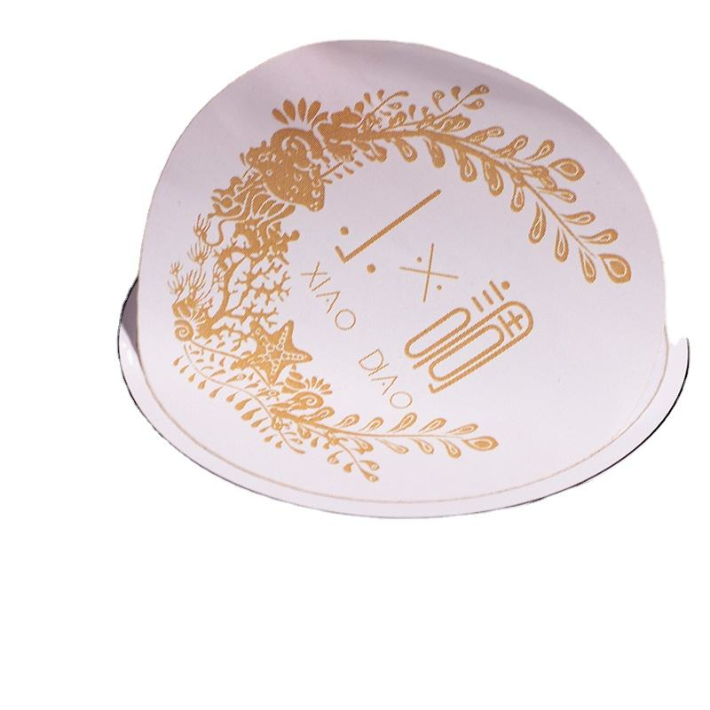 Bulk Custom Brand Name Peelable Hot Stamping Rose Gold Foil Printing Adhesive Paper Stickers Labels