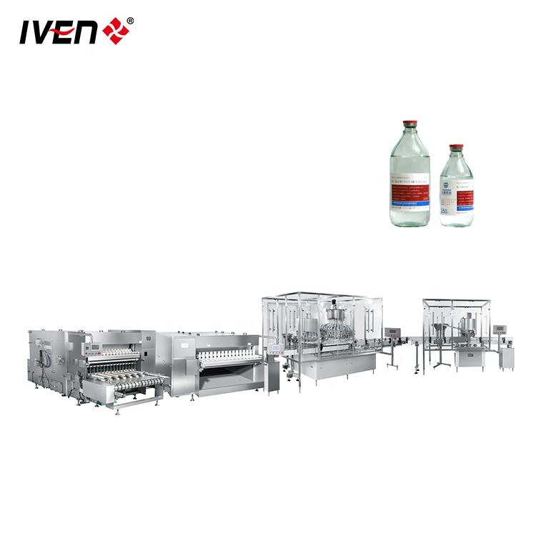 Pharmaceutical Full-Automatic Glass Bottles Filling Machine Production Line Price