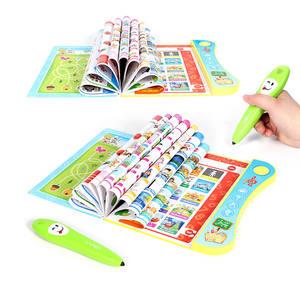 Kinder Früh Lernen Sound Buch Kinder Englisch Letters Worte Farben Tiere Elektronische Buch mit Stift Stimme Lesen Buch
