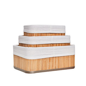 Factory direct supply and eco-friendly set 3 home storage basket bamboo basket weaving