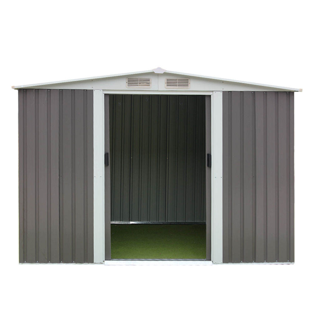 metal shed for storage the tools outside used