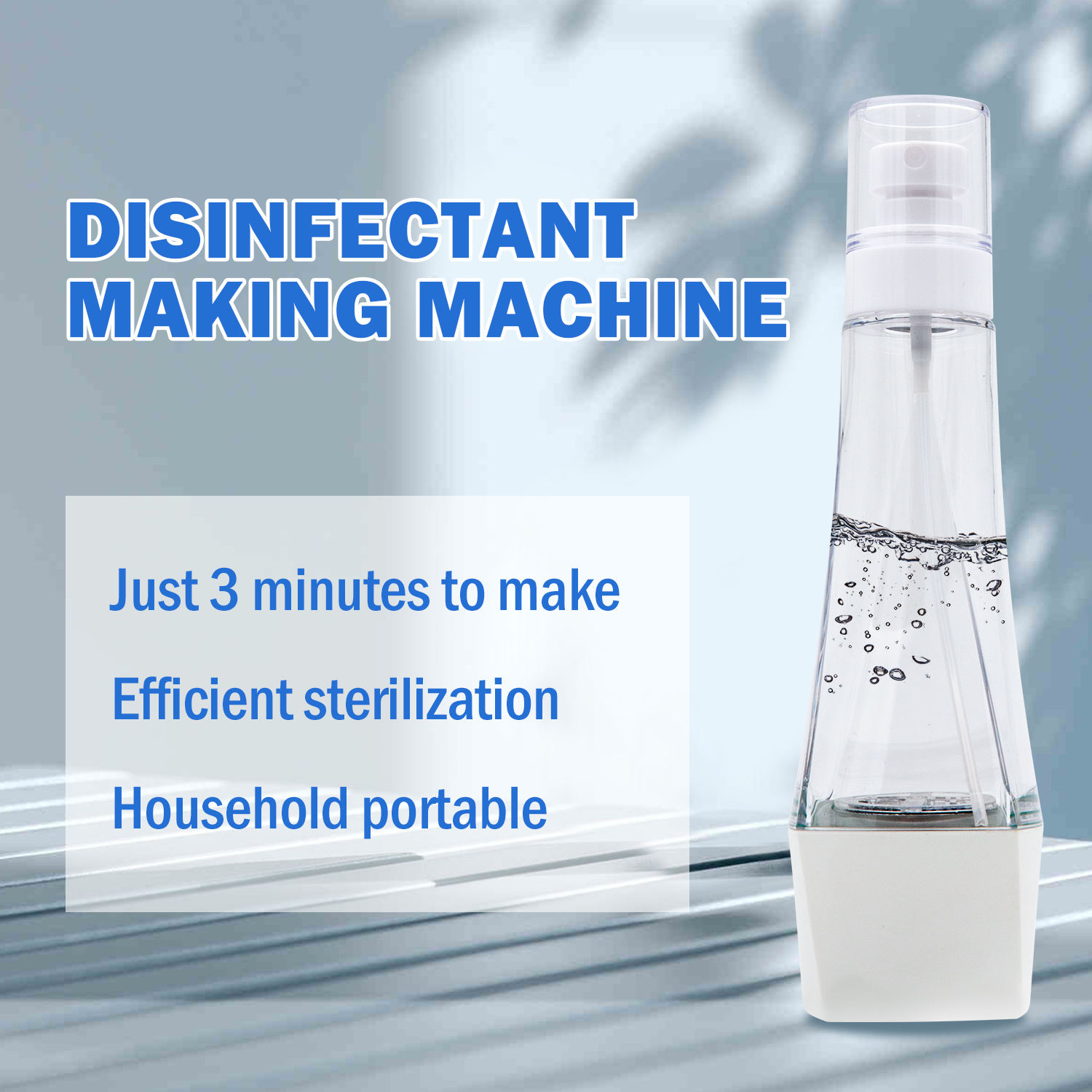 Electric Salt Hypochlorite Sodium Bleach Machine Generator Portable Disinfection Water Maker