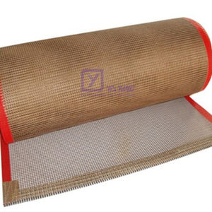 Woven PTFE coated mesh conveyor belt High Temperature belt