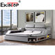 Ekintop high quality luxury modern style queen bed set furniture high headboard bed