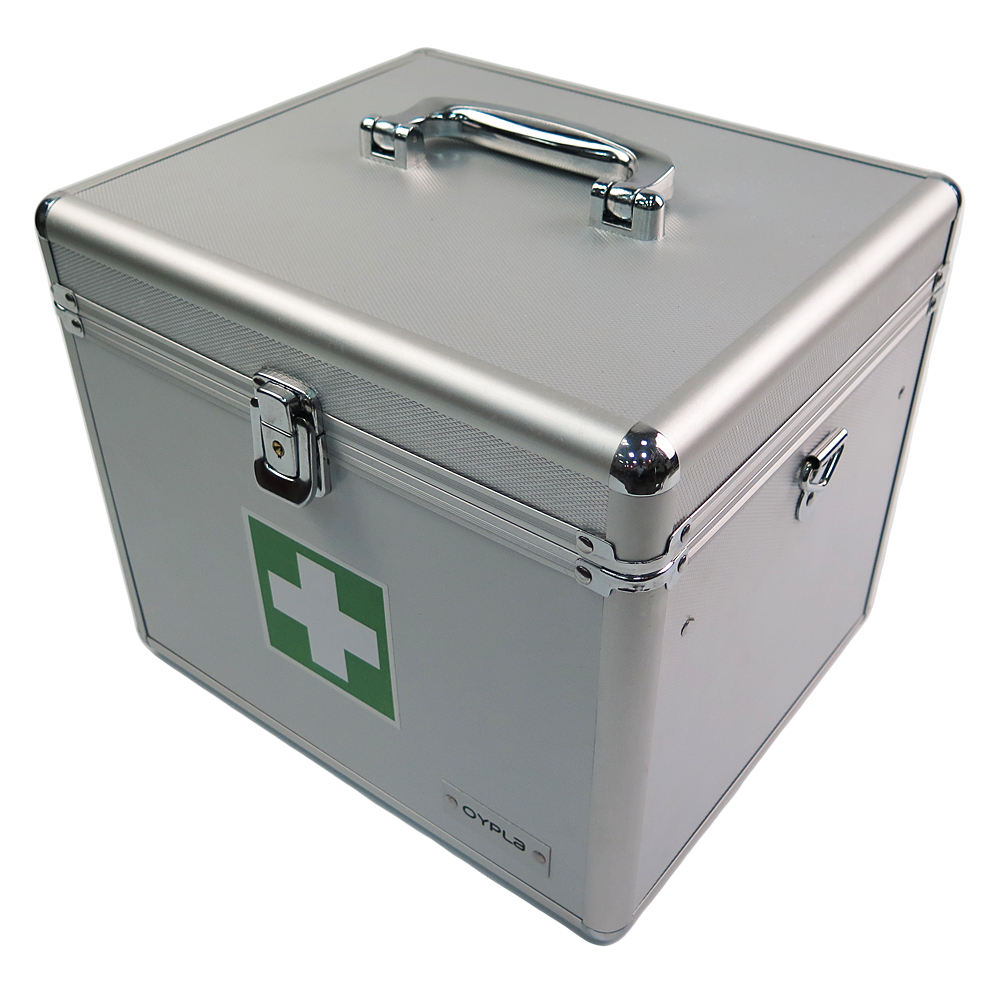 hot sale OEM ODM storage packaging briefcase metal aluminum first aid kit emergency fasted safety tool box medical case