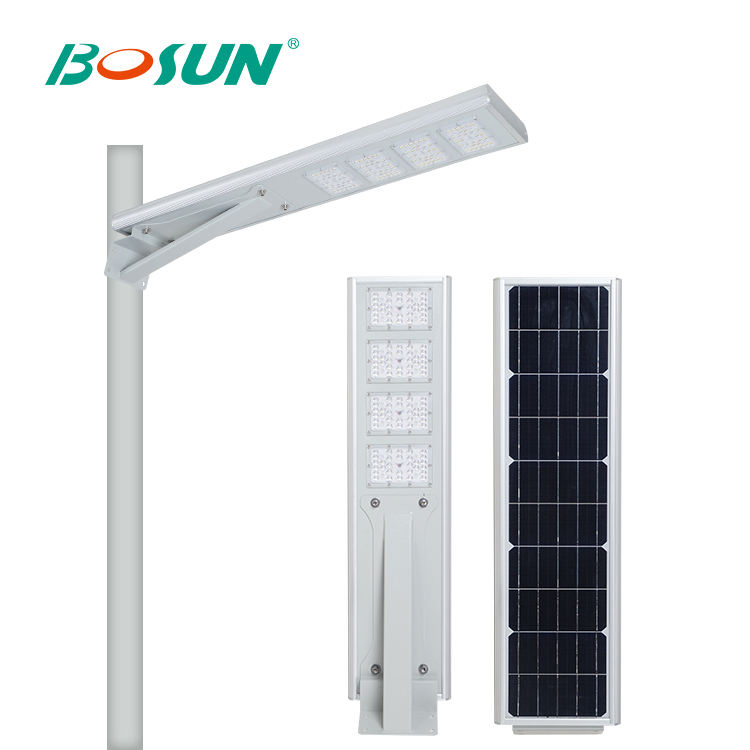 BOSUN Outdoor waterproof IP65 garden 15w 20w 30w all in one solar led street light