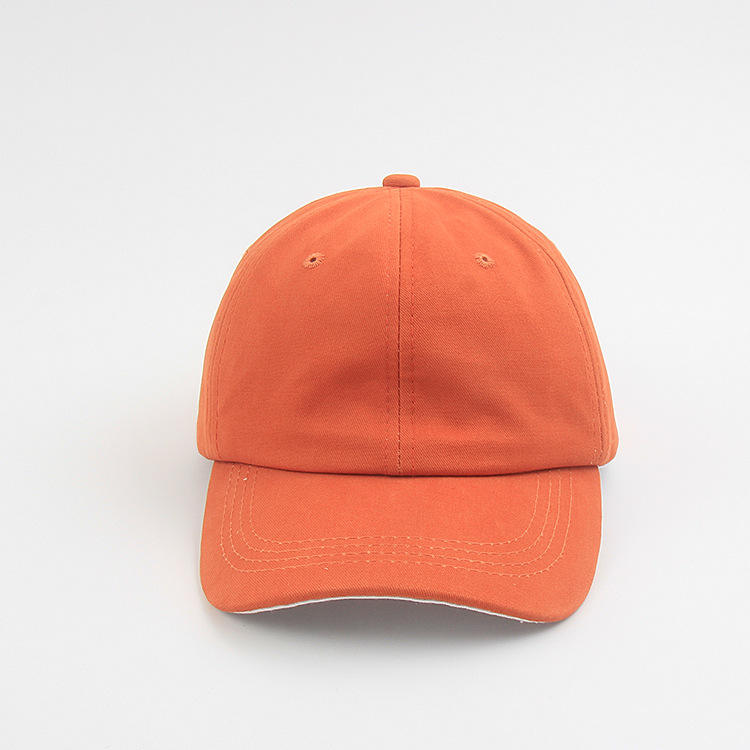 Streetwear Advertising 3D Embroidered Thin orange Company dad caps and hats with stickers