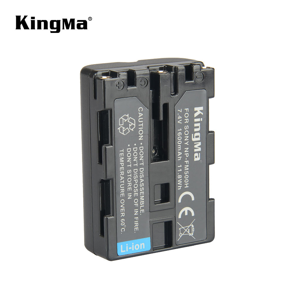 KingMa Vervanging Batterij <span class=keywords><strong>NP</strong></span>-<span class=keywords><strong>FM500H</strong></span> 1600 mAh Lithium Camera Batterij voor Sony a65 a77 a200 a300