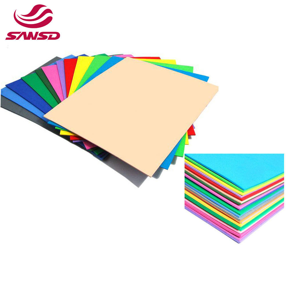 factory direct custom 7mm 3mm Colorful EVA Thin Foam Sheet for eva soles and packing