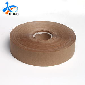 Custom logo printed heat resistant adhesive self adhesive kraft paper tape