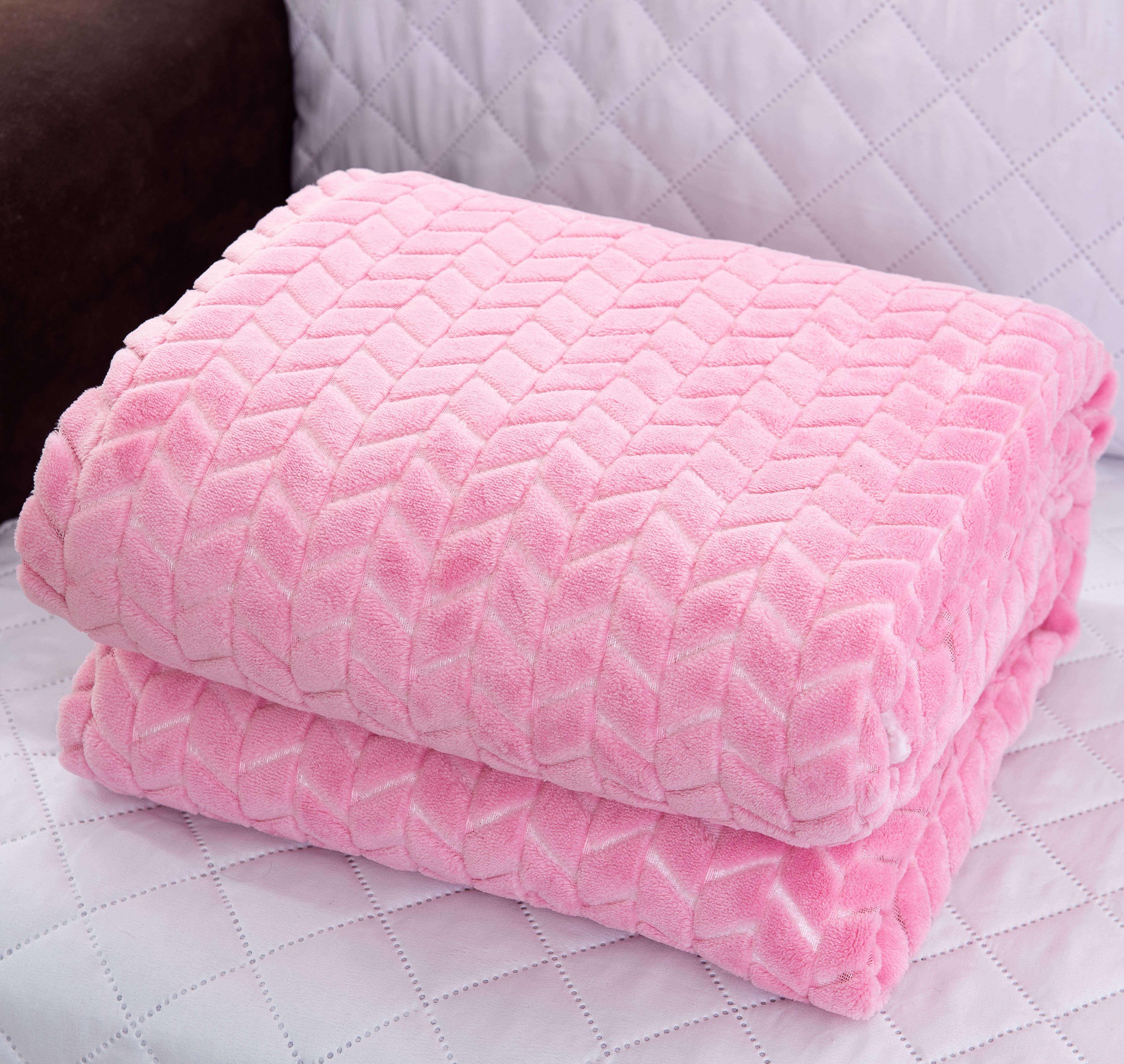 China Factory Textile Stamp Super Soft Solid Stamp Gold Silver h fluffy Flannel Fleece Royal jacquard blanket