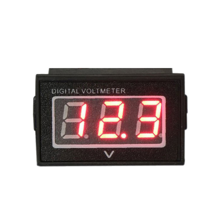 Hot Sale Tahan Air Mobil Mini DC Digital 2.5V-30V LED Display Hitam Mengukur <span class=keywords><strong>Tegangan</strong></span> Voltmeter