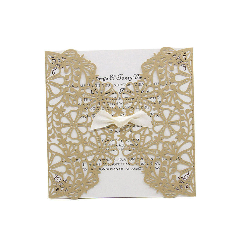 Fancy wedding invitations printing pocket indian invitation card