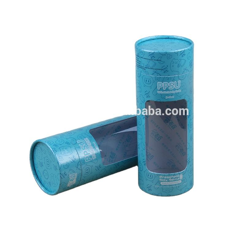 Push Up Cylinder Cardboard Paper Tube with PVC Window paper Box