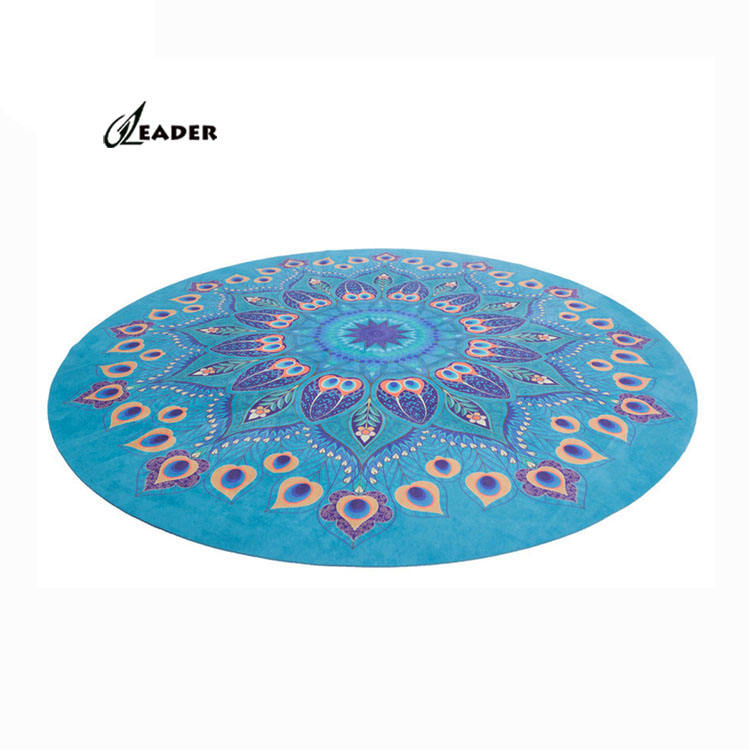 Multi functional Machine Washable Round Rubber Sport Floor Mat