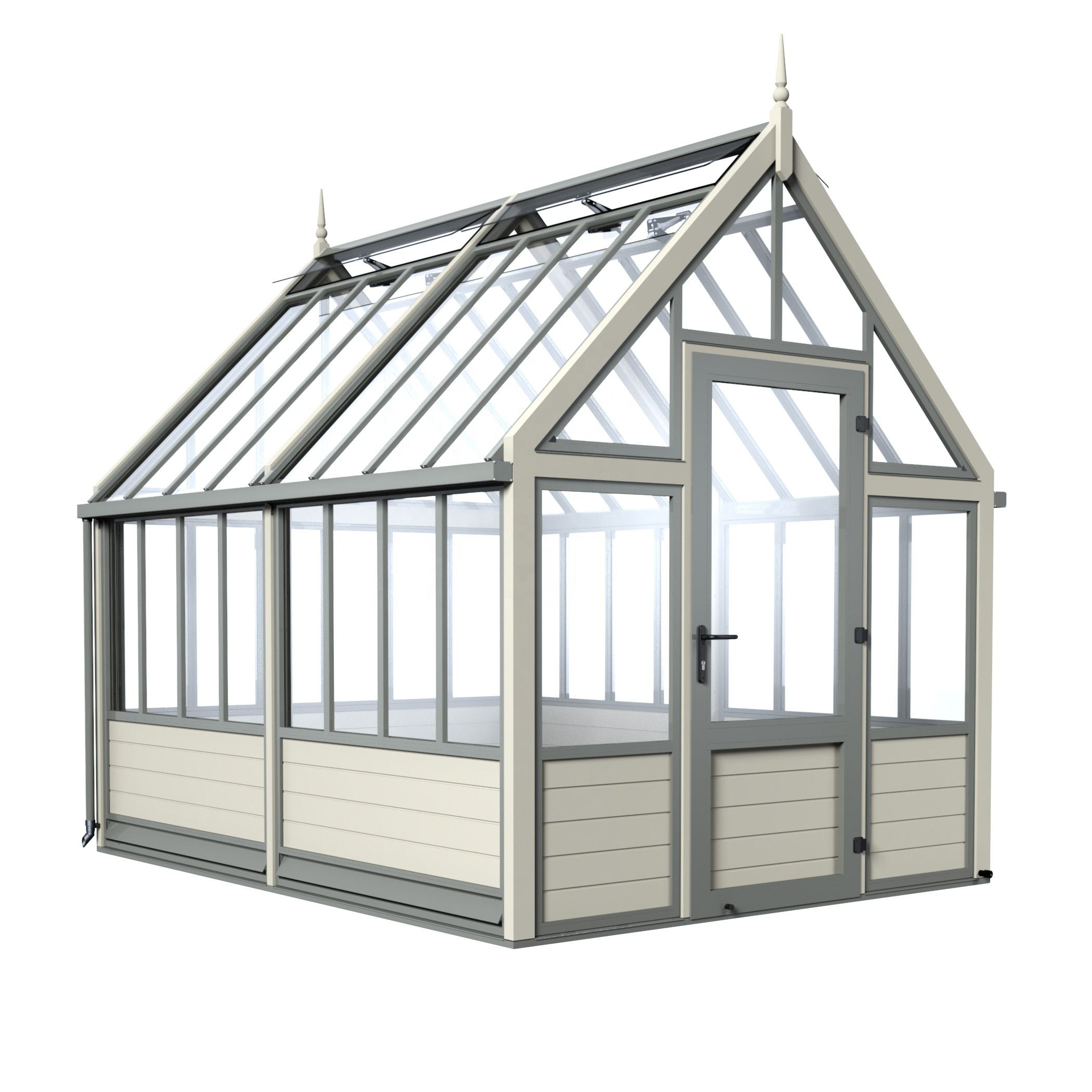 Small DIY Plastic Garden Greenhouse PC Sheet/Glass Solar Indoor Greenhouse Manufacturer