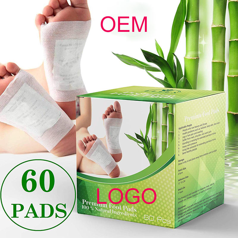 50pcs Cleansing Detox Foot Kinoki Pads Cleanse & Energize Your Body Relax Patch