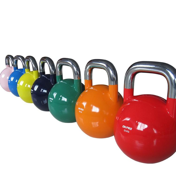 China Wholesale Top Grade Custom Logo Color Weight Competition Steel Kettlebell