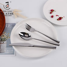 Hot sale metal inox flatware set stainless steel knife spoon and fork cutlery set stainless steel flatware