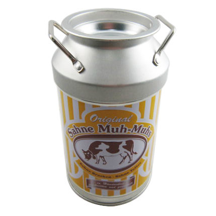 Produce Custom Round Metal Food Container Vintage Milk Tin Can For Candy With Lid
