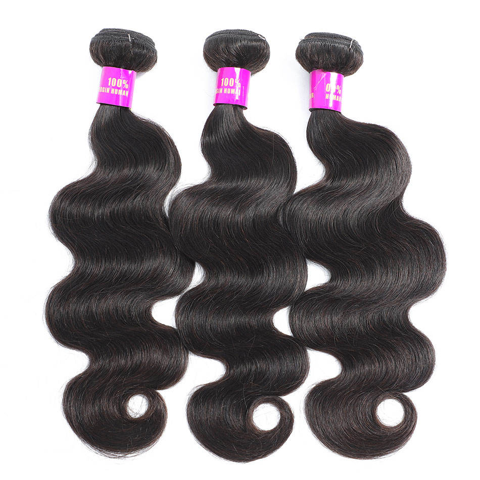 Body wave bundles with closure,wholesale virgin brazilian human hair bundles,mink brazilian virgin hair bundles with closure