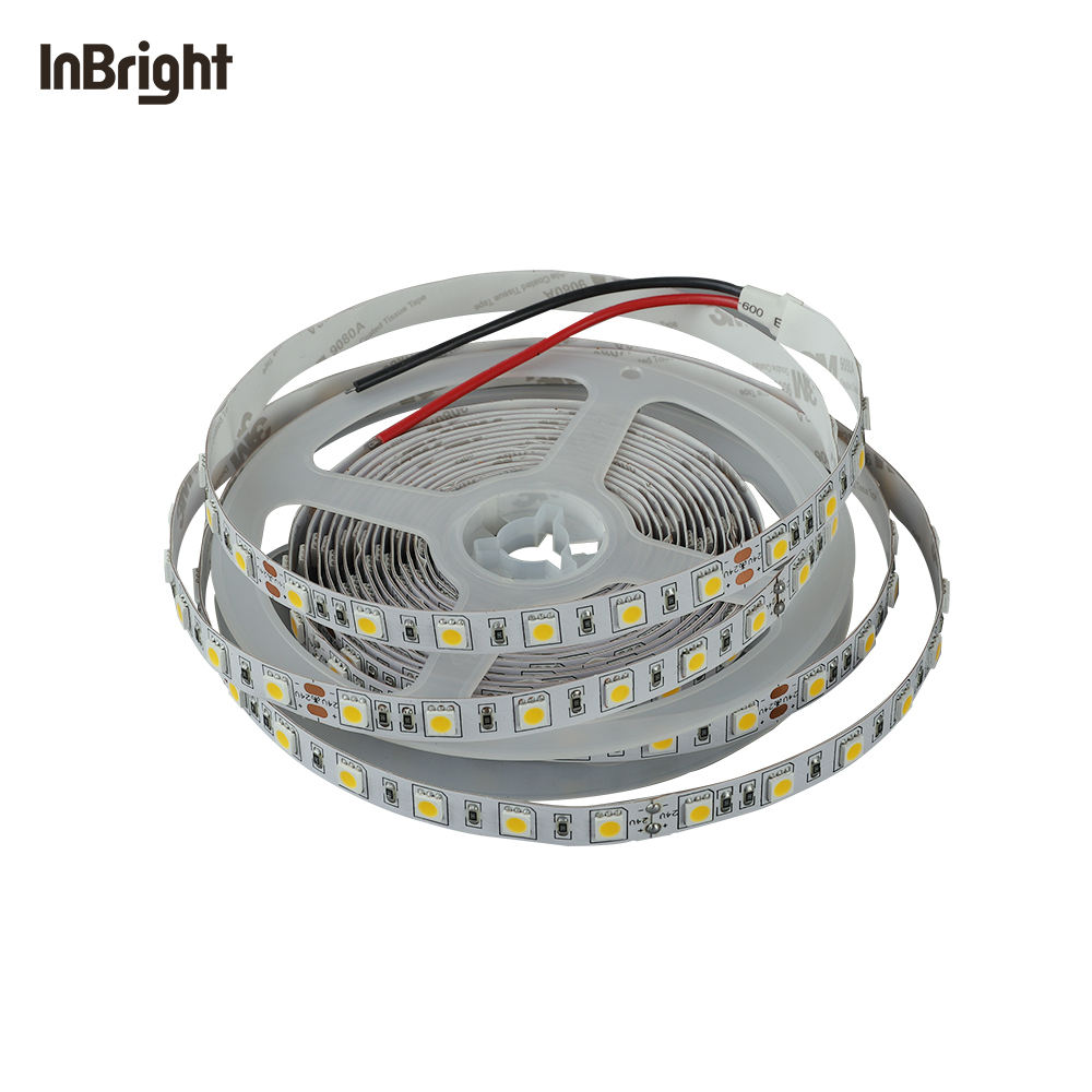 factory direct sale high quality 5m roll 5W 9W 14W DC 12V 24V smd 5050 flexible led strip light