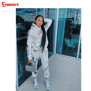Fashion fall jogging suit 2020 for woman two piece jogger set woman