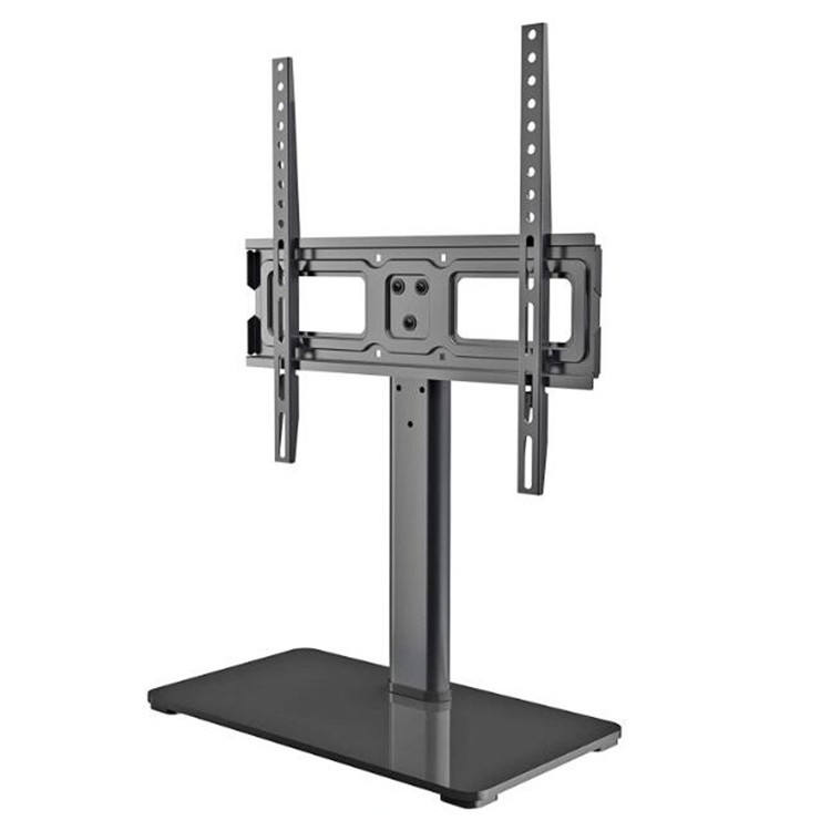 Desk Tempered Glass Base TV Mount Stand Desktop Table Monitor Glass Flat Panel LCD TV Stand