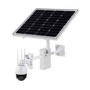 Solar panel outdoor wireless PTZ 3G 4G SIM Card security ip camera