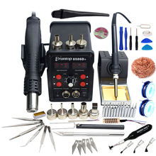 Promotion item high quality multifunction professional hot air gun soldering iron station