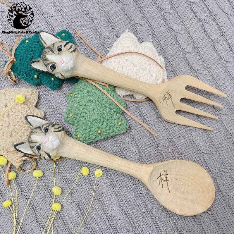 High Quality Wooden Forks and Spoons SALAD SERVERS Hand Made Wooden Funtional Crafts For Wholesale