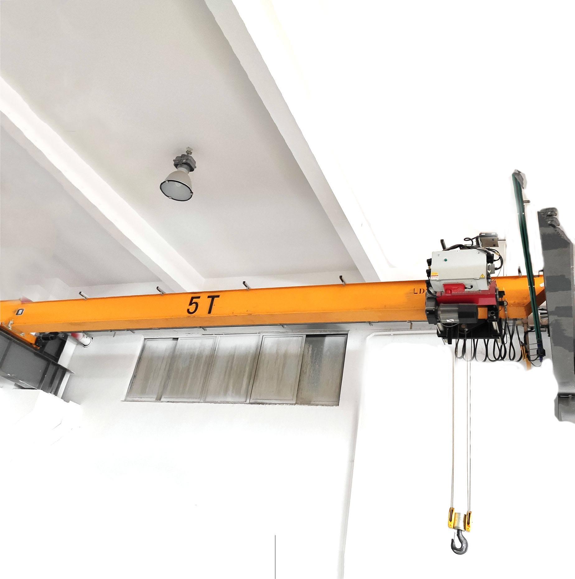 Factory use 5ton hoist crane travelling motor bridge electric hoist overhead crane