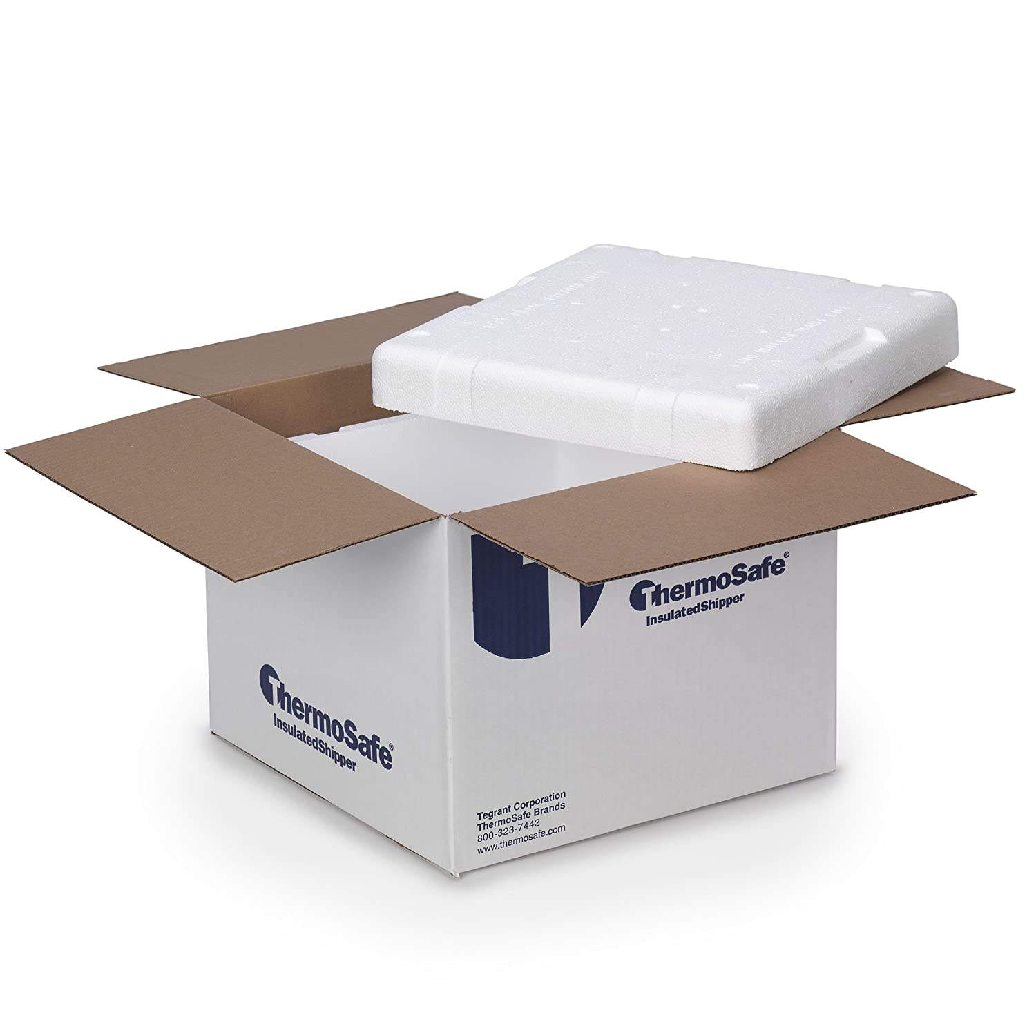 Custom logo printing paper cardboard insulated foam shipping boxes for frozen food