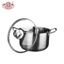 Cheap price kitchen stainless steel 304 lid glass soup pot